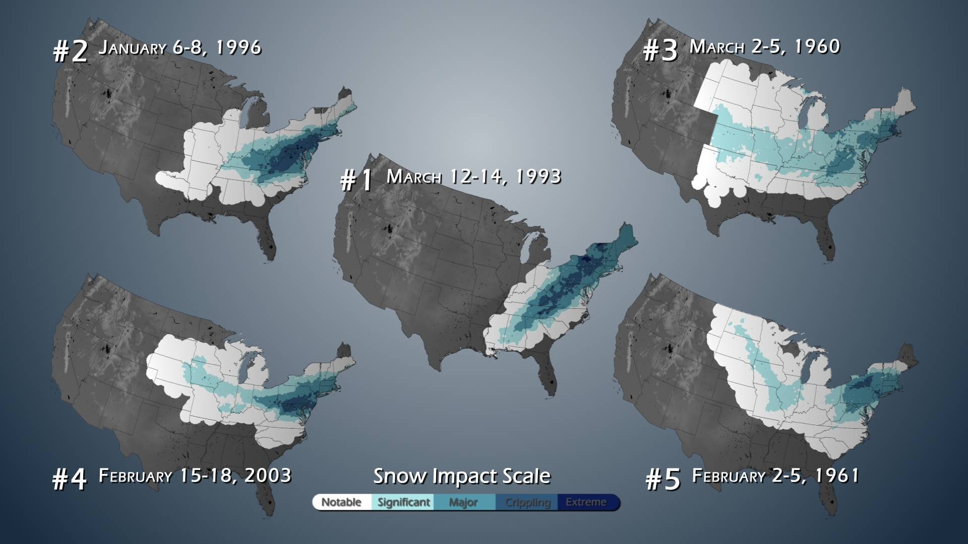 Snow Observations - Us snowfall map 2009
