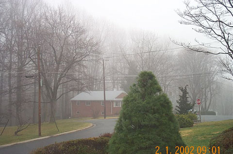 February 1, 2002 morning fog